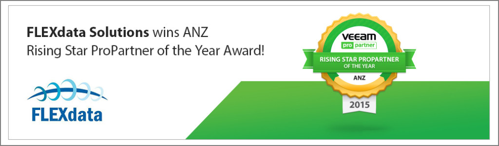 "FLEXdata Solutions swoop Veeam ""Rising Star"" ProPartner Award ANZ"